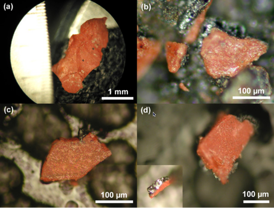explosive residues energetic materials and the world trade center  fig 2 from active thermitic material discovered showing chips from the four different dust samples
