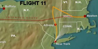 flight 11 route