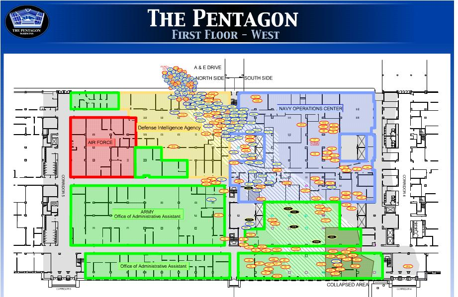 Pentagon victim map