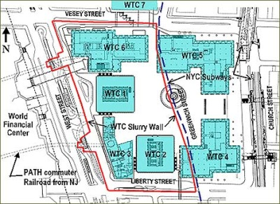 Map Of World Trade Center Before 9 11.9 11 Research The Bathtub