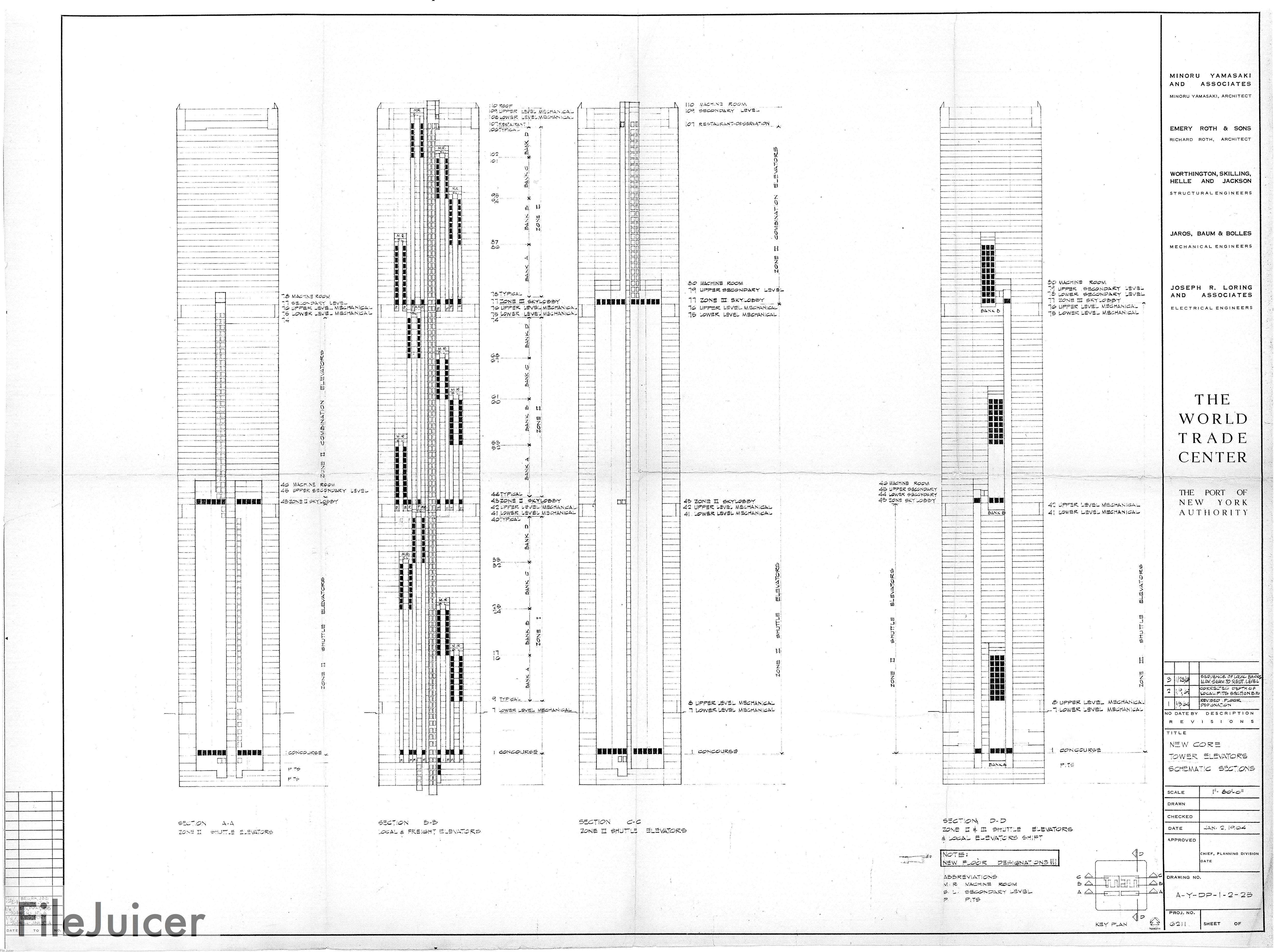 9 11 Research North Tower Blueprints