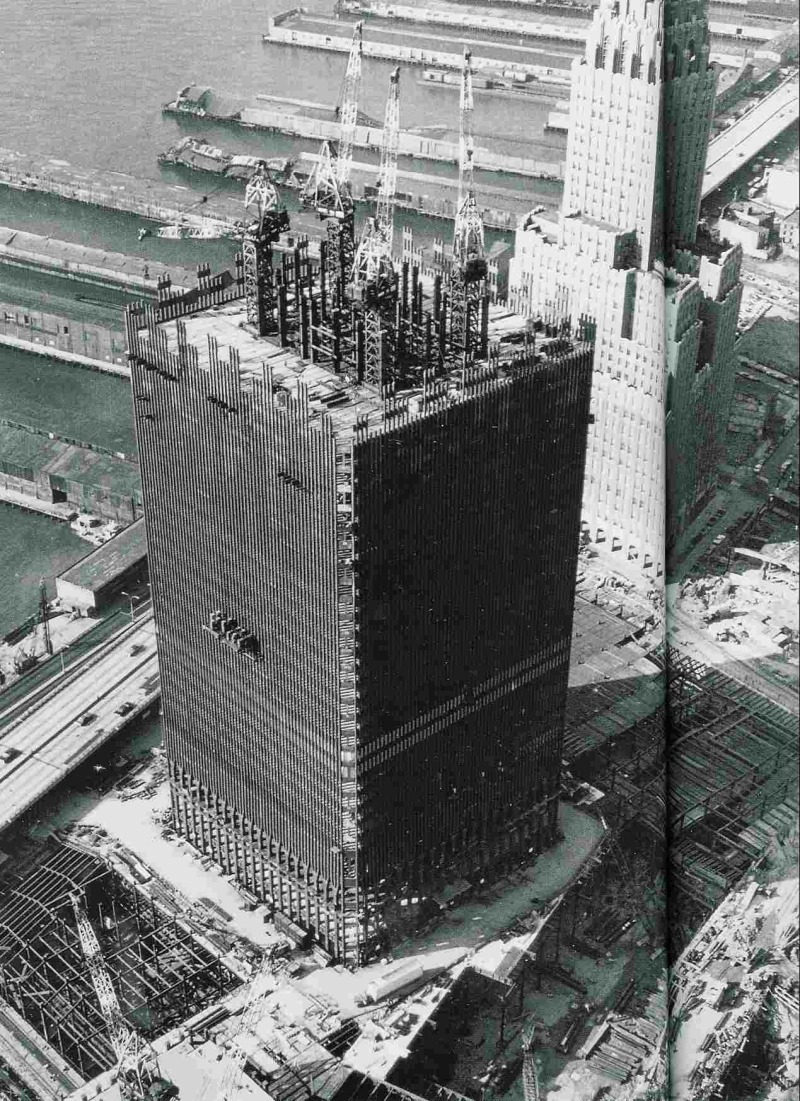 9 11 research north tower construction for Interieur world trade center