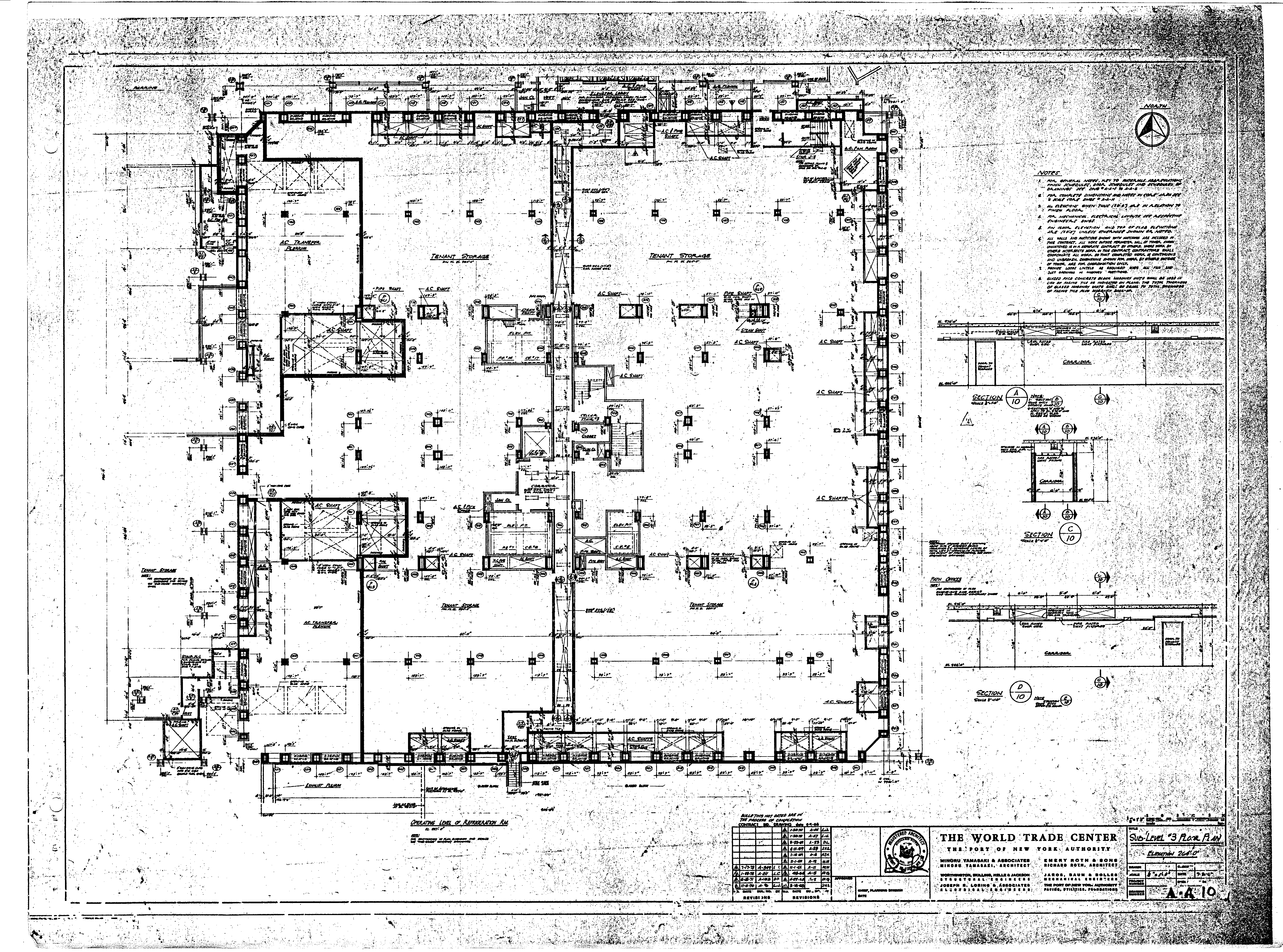 Architectural drawings floor plans Drawn Architects Engineers For 911 Truth North Tower Blueprints