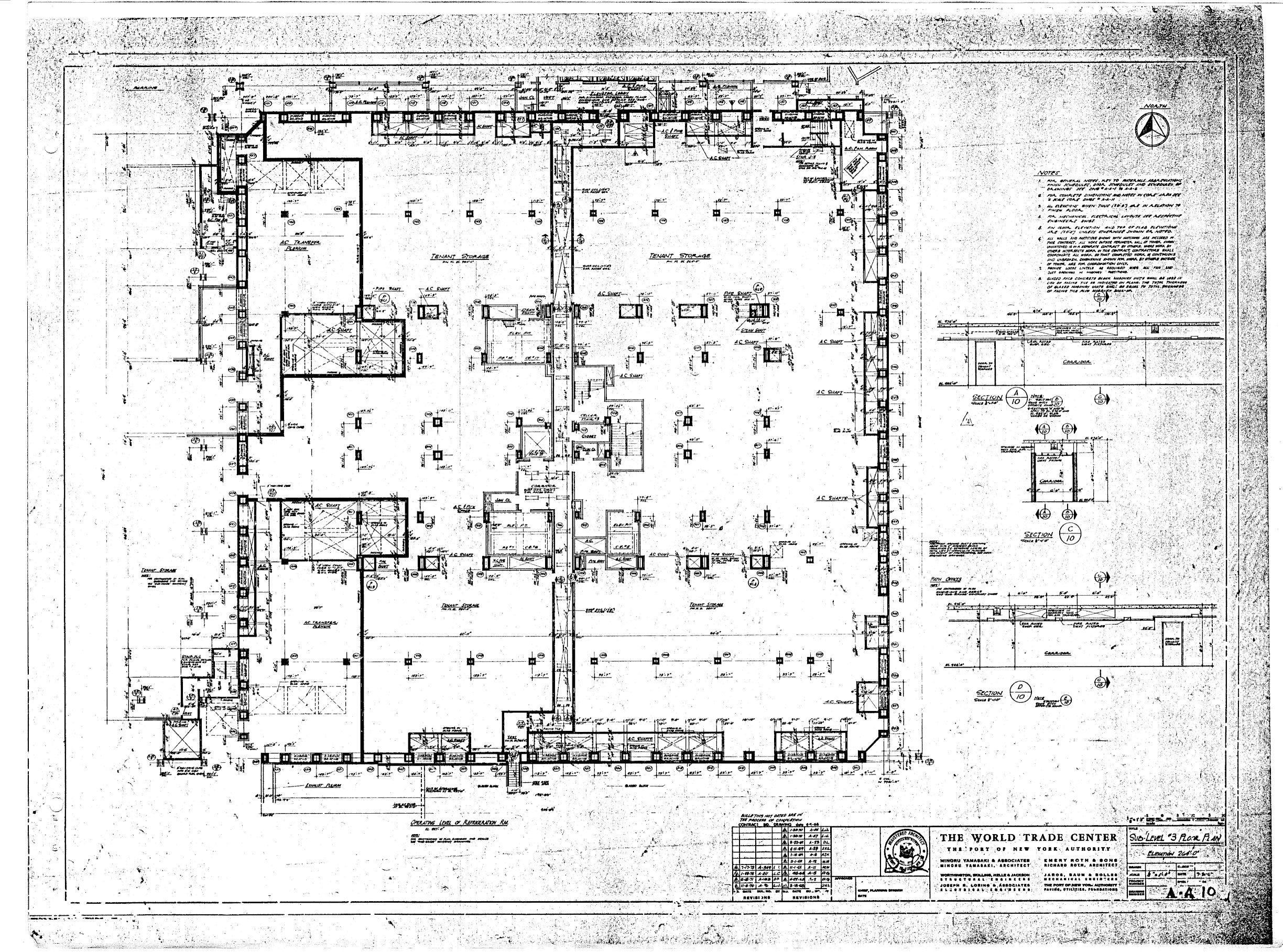 sub level 4 floor plan sub level 3 floor plan
