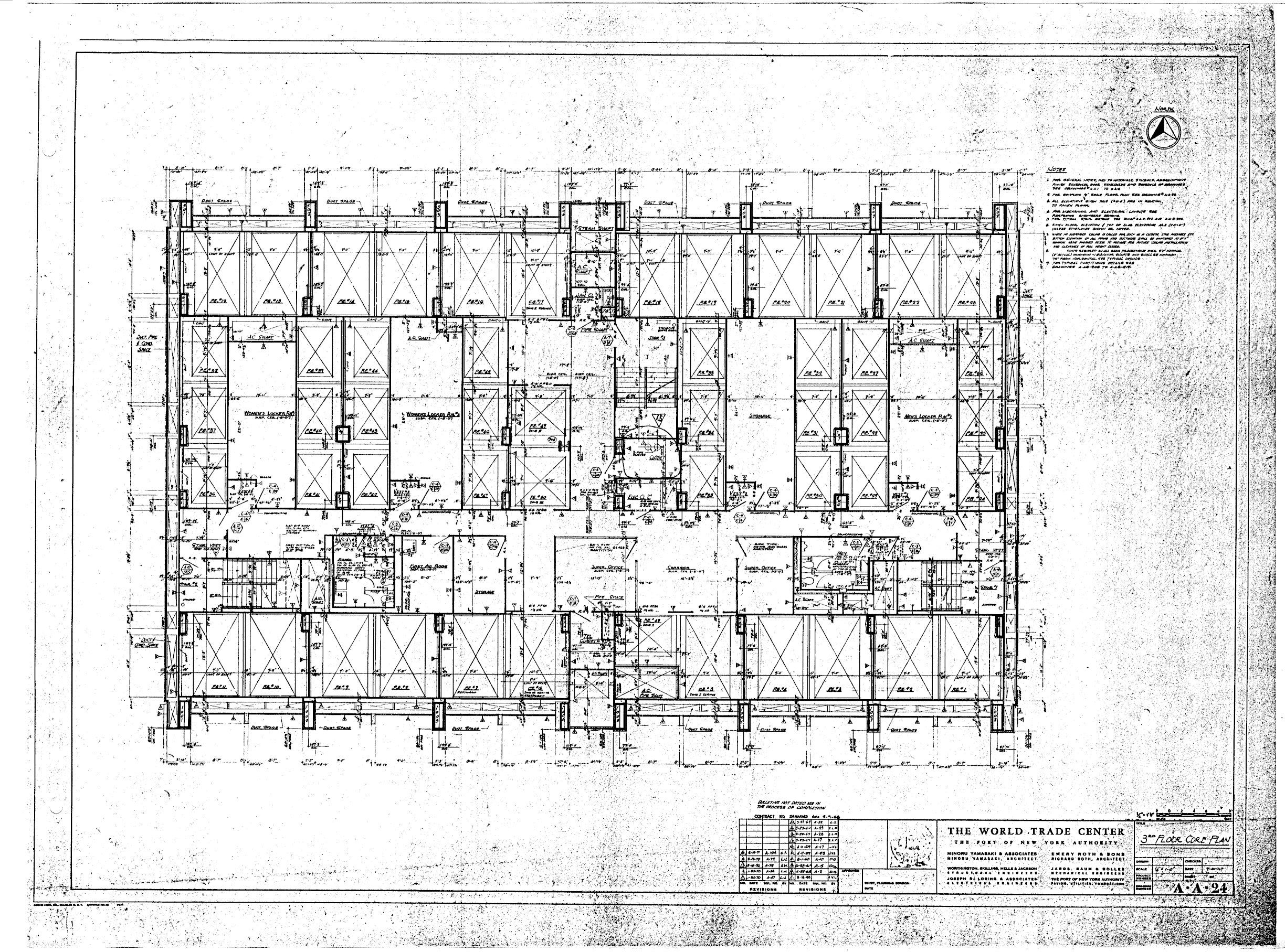 The 3rd floor core plan