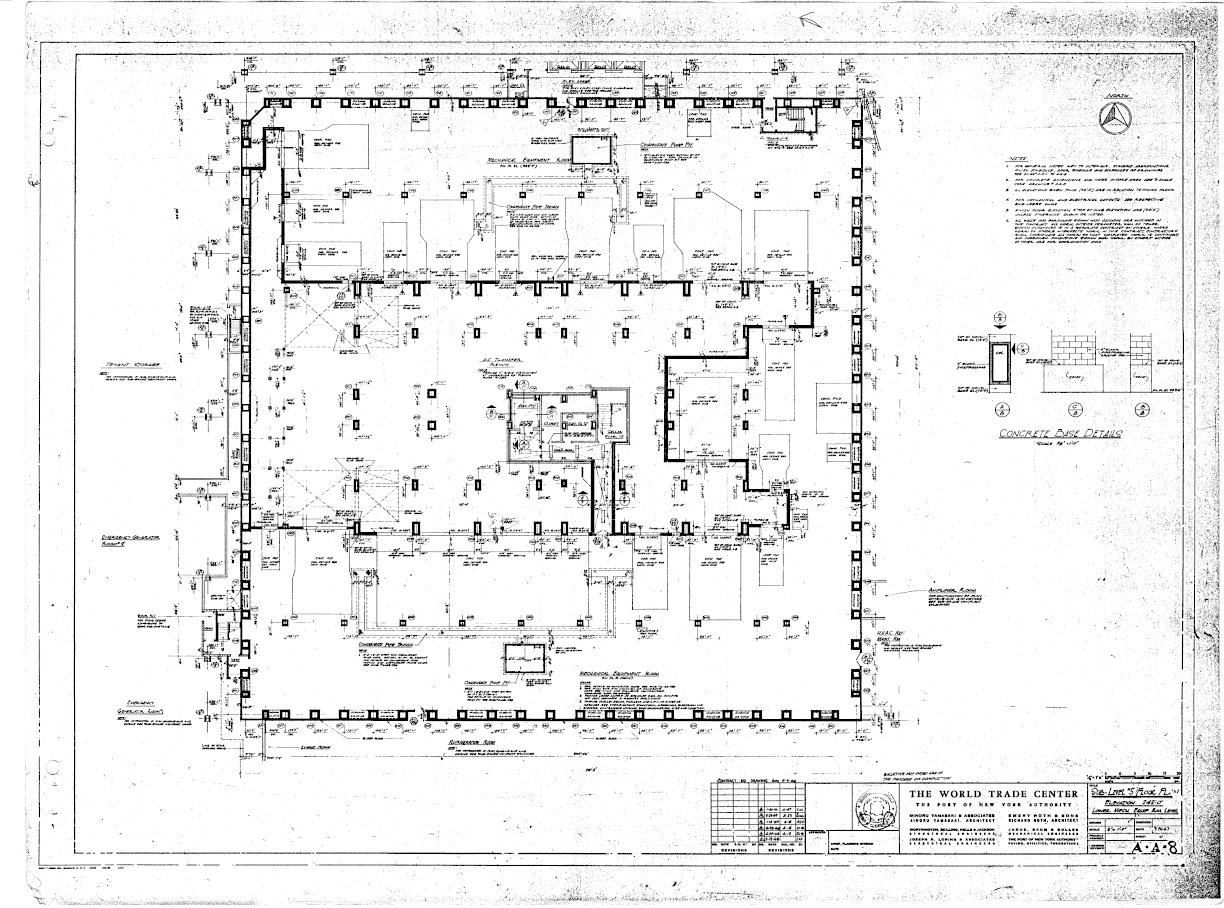 North Tower Blueprints 3d Hvac Drawing Images Table Of World Trade Center A Architectural Drawings